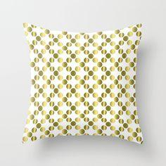 Gold foil dots pattern pillow.