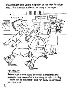 Amazing Safety Coloring Pages 79 Stranger danger coloring pages