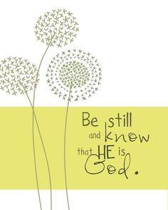 New Nostalgia: Be Still  #stillness #bestill