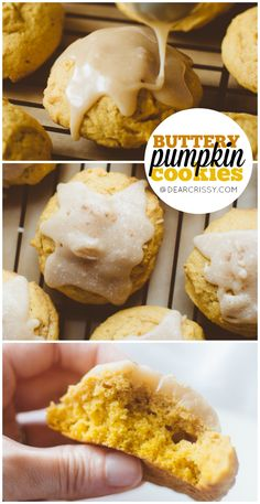 Buttery Pumpkin Cookies with Brown Sugar Icing - These soft, buttery pumpkin cookies are like sweet pillows of pumpkin flavor. The brown sugar icing sends them over the top!