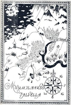 Tove Jansson: The Moomin Valley in the Winter Finland Moomin Tattoo, Moomin Books, Lynda Barry, Moomin Valley, Tove Jansson, Fantasy Map, Cartography, Illustrations Posters, Fairy Tales