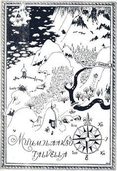 Taikatalven kartta- muumilaakso talvella