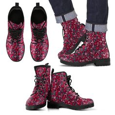 Red Music Shoes, Mens Leather Boots Express