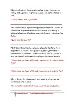 Textos cortos de lectura inferencial 2