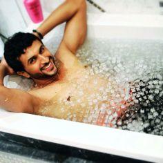 Nasser HIK en bañera con hielo, Triatlón (12/04/2013)