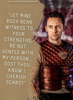 """Submission: """"Let mine body bear witness to your strengths, be not gentle with my person… Dost thou know I cherish scars?"""" ..."""
