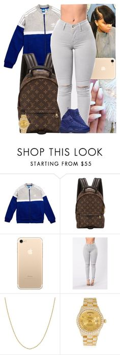 """Untitled #1061"" by msixo ❤ liked on Polyvore featuring adidas Originals, Louis Vuitton, Fremada and Rolex"