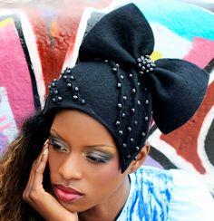L A   F A C I N A N T E'  - Black Felt hat