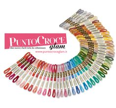 We love Cross Stitching <3 DMC - Punto Croce Glam