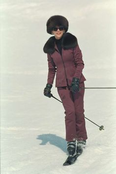 Elektra King in Skiing Scene in the James Bond Film, The World Is Not Enough