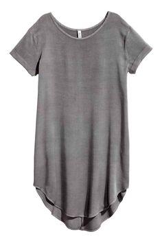 Korte jurk - Donkergrijs - DAMES | H&M NL 1