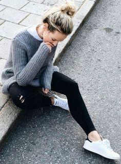 d7c9925c55 Womens shoes  Pour un look sporty porter le jean noir avec un pu.