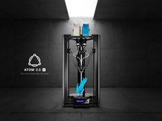 ATOM 2.5EX impresora 3D de tipo delta con cabezales intercambiables - https://www.hwlibre.com/atom-2-5ex-impresora-3d-de-tipo-delta-con-cabezales-intercambiables/