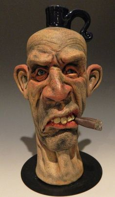 The Inbred Jug by ~thebigduluth on deviantART Sculpture Head, Sculptures, Anatomy Sculpture, Face Jugs, Clay Art Projects, Living Dead Dolls, 3d Cnc, Cartoon Faces, Pottery Art