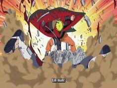 as explosões de Naruto na batalha contra Pain
