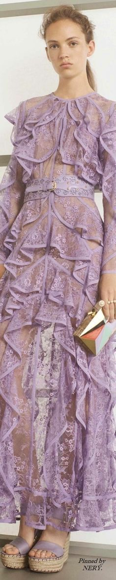 Elie Saab Resort 2017 violet long dress @roressclothes closet ideas #women fashion outfit #clothing style apparel