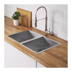 NORRSJÖN Inset sink, 1 bowl, stainless steel - Shop online or in-store - IKEA Küchen Design, Clean Design, Layout Design, Fitted Cabinets, Dish Washing Brush, Steel Seal, Design Simples, Inset Sink, Double Bowl Sink