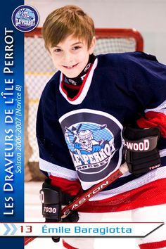 a8b9c65c Hockey Thank You Cards - Take a photo of each child in their jersey and  create a hockey card.