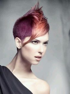 Duel-Coloured Faux Hawk, love this bold look and color!