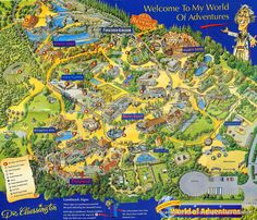 Chessington World of Adventures map from 1995