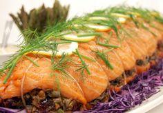 Norwegian Salmon Stuffed with Wild Rice, Cranberries & Pecans
