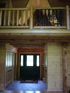 Eagle Bay is a custom built, full-log home that is only 5 years old— giving your family all the modern conveniences. Necedah, Wisconsin.