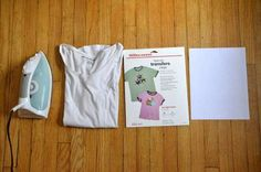 How to make your own customized t-shirt with your computer & iron-on transfer paper #DIY #craft #t-shirt