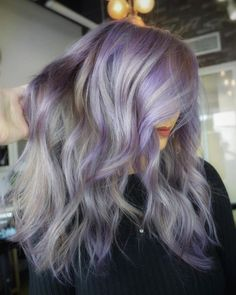 The Prettiest Pastel Purple Hair Ideas - white ombre hair - Hair Purple Hair Tips, Silver Purple Hair, Deep Purple Hair, Bright Purple Hair, White Ombre Hair, Purple Hair Highlights, Violet Hair, Hair Color Purple, Pastel Hair