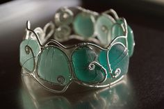 Sea glass cuff