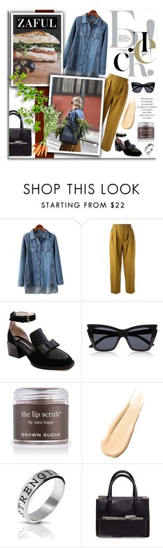 """""""32. www.zaful.com/?lkid=4298"""" by melissa-de-souza ❤ liked on Polyvore featuring Yves Saint Laurent, Le Specs, Sara Happ, Hourglass Cosmetics, Bling Jewelry and zaful"""
