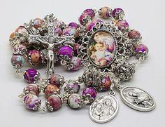 Pregnancy Healthy Childbirth    St Gerard St Anne    Handcrafted Rosary