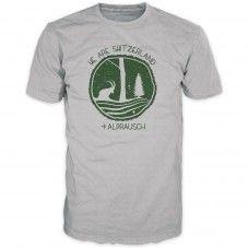 Mir Sind's (grey melange) Alprausch men's T-shirt
