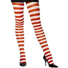 Candy Cane Tights Adult ($6.71) ❤ liked on Polyvore featuring costumes, adult costume, adult halloween costumes, candy cane costume, white halloween costumes and adult candy cane costume