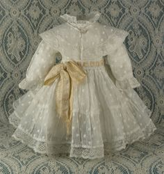 Wonderful Antique French Dress for JUMEAU, BRU or other French Bebe Doll circa 1880s I'd love this for Bleuette-it's fabulous!