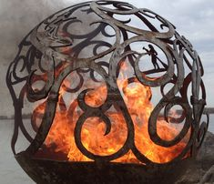 Fireball Fire Pits WAVES - Unique handcrafted wood burning steel fire pits. Creative handmade artistic expressions. Free Shipping!