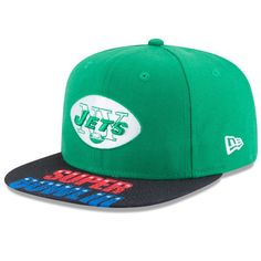 New York Jets New Era On The Fifty Super Bowl III Jumbo Vize Original Fit 9FIFTY Adjustable Hat - Green - $31.99