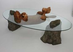 Unique Tables Designed to Look Like Animals Are Half-Submerged in Water - My…