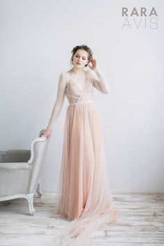 Vestido de Novia de MELIN por RaraAvisAngeEtoiles en Etsy