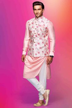 Then, it's time you start planning for the day by checking out these 20 latest engagement dresses for men. Take a look at these ideas and get inspired! Engagement Dress For Groom, Wedding Outfits For Groom, Wedding Dress Men, Engagement Dresses, Bridal Outfits, Men's Wedding Wear, Men's Outfits, Wedding Groom, Wedding Suits