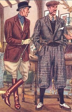 Gentlemen in Plus Fours and Breeches