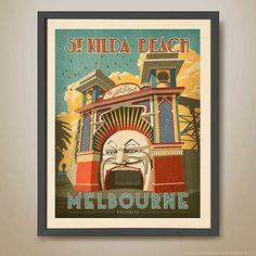 Luna Park Melbourne. St.Kilda. St.Kilda Beach. by HarperAndCharlie