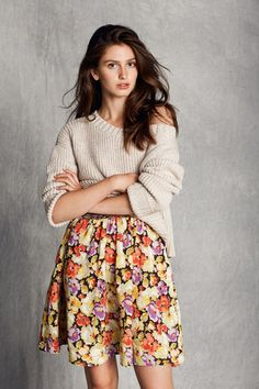News Spring Summer 2016 Beautiful Mind, Spring Summer 2016, Campaign, Content, Medium, Floral, Skirts, Inspiration, Fashion