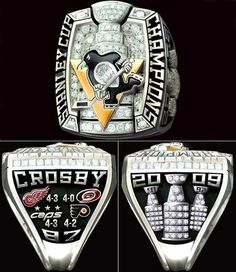 Penguins Stanley Cup Ring  Way nicer than my replica.