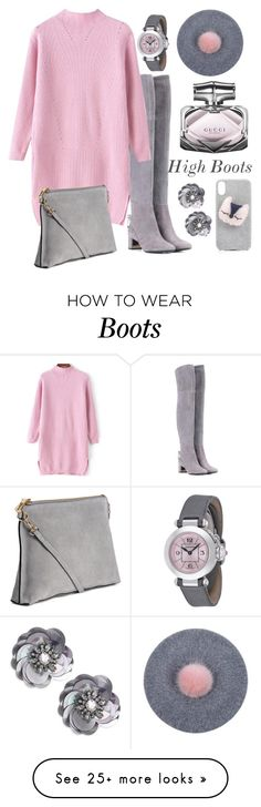 """High Boots"" by namogold on Polyvore featuring Tory Burch, H&M, Gucci, Cartier and Kate Spade"