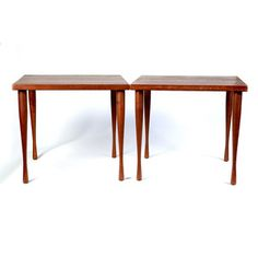 Danish Teak Side Tables Pair, $820, now featured on Fab.