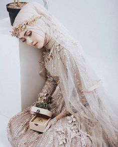 Pinned By Pinogram Hijabi Wedding, Muslimah Wedding Dress, Muslim Wedding Dresses, Dream Wedding Dresses, Wedding Attire, Bridal Dresses, Muslim Brides, Wedding Abaya, Muslim Girls