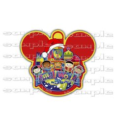 Disney  Christmas IT'S A SMALL World  Scrapbook Paper Piece  Clip Art Die Cut by…