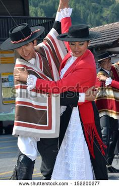 Chilean dance partners at the International Festival of Folklore and Dance from the mountains