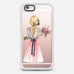 Bouquet (Blonde Hair Option 2/4, Fashion Illustration Transparent Case)