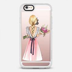 Bouquet (Blonde Hair Option 2/4, Fashion Illustration Transparent Case)
